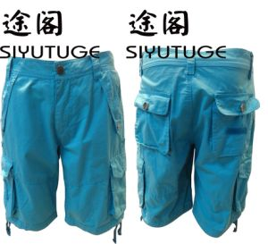 Mens Cargo Pocket Fashion Garment Dyed Short Pants pictures & photos
