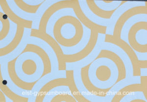 PVC Laminated Gypsum Ceiling Tile 1210*605*7mm pictures & photos