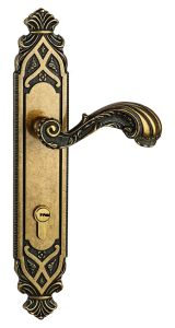 Antique Style Solid Brass Entrance Door Handle Lock pictures & photos