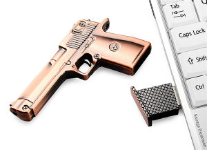 Gun-Shaped USB Flash Memory Stick Pen Drive