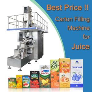 Juice Wine Beverage Liquid Carton Brick Packing Filling Machine Sxb-3000