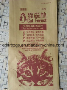 China Made Plastic Packaging PP Woven Cat Litter Bag / Sack pictures & photos