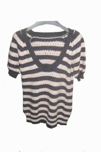 Ladies Fashion 12gg Knitted Sweater Dress