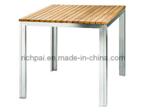 Outdoor Furniture - Stainless Steel and Teak Table (RTT008)
