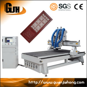 1325 Vacuum Table, 3 Spindle, Auto Tool Change Wood Door CNC Router pictures & photos