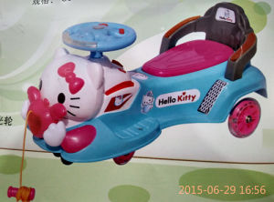 Baby Swing Car Silence Wheel Light Music Kitty Design