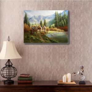 The Horse in The Lake on Oil Painting pictures & photos