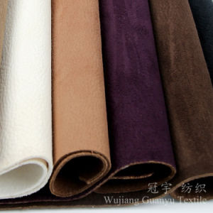 Suede Leather Embossed Compound Polyester Sofa Fabrics pictures & photos