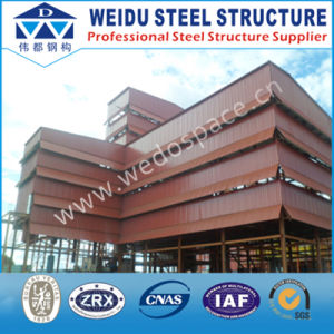 Red High-Rise Steel Structure Building