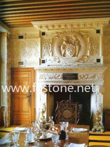 Marble Carved Stone Fireplaces Mantel /Stone Carving Stone Mantel pictures & photos