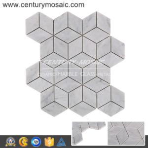 Rhombus Carrara D Marble Mosaic Tile