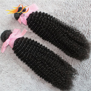 100% Virgin Hair Kinky Curl Peruvian Remy Human Hair with Natural Color pictures & photos