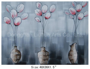 Decor Painting-Hot Sell High Quality Oil Painting Flowers in Vases (LH-700578) pictures & photos