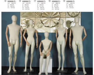 Full Body Man Mannequins with Wooden Arms for Window Display pictures & photos