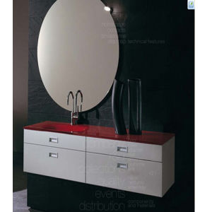 New Painting MDF Bathroom Vanity with Mirror (SW-W800B) pictures & photos