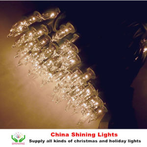 UL CE LED Party Lights Green Wire White Wire