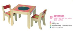 Study Table Playing Table with Two Chairs Wooden Furniture Kids Furniture pictures & photos