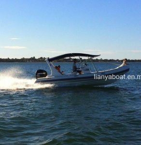 Liya 6.6m Large Fiberglass Bottom Inflatable Boats for Sale pictures & photos