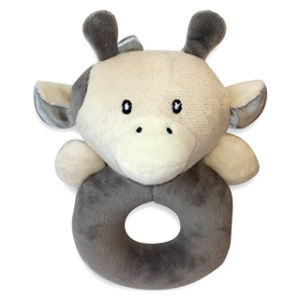 China Plush Cow Rattle For Baby Crib Toy Infant Baby Boy Or Girl