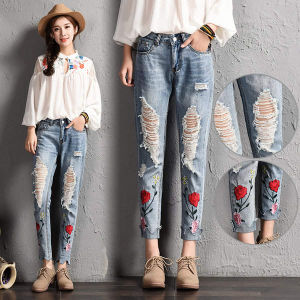2f4911051ece7 Women`S Celebrity Style Fashion Blue Low Rise Skinny Distressed Washed  Stretch Denim Jeans for Women Ripped Pants Famous Brand Denim Polyester  Lady Jeans ...