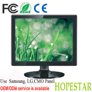 CE & RoHS Certification DVI/ VGA/ HDMI Input DC12 Volt 15 Inch LCD Monitor pictures & photos
