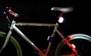 Cycling Bike Bicycle Red Silicone 7 LED