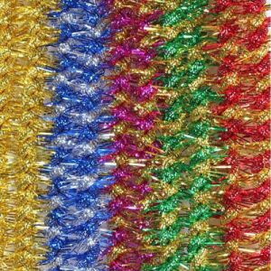 Decorative Tinsel Garlands for Christmas Tree Ornaments