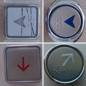 Elevator Round/Square Push Button, Elevator Stainless Steel Push Button pictures & photos