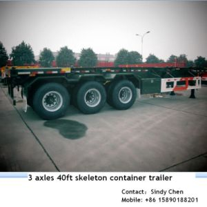 40ft Tri Axles Skeleton Frame Trailer Exported to India