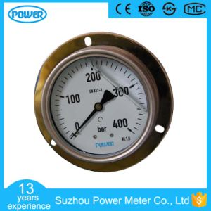 4′′100mm Full Stainless Steel Glycerin Filled Manometer with Flange pictures & photos