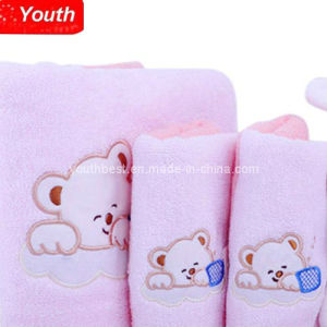 Baby Towel with Cute Bear Printing Pattern