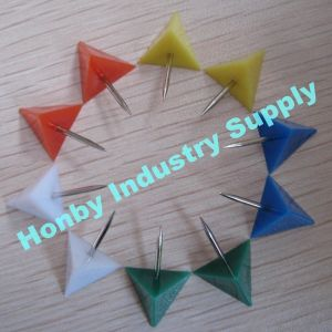 22mm Triangle Shape Plastic Head Decorative Map Tack Push Pin (HP4714C)