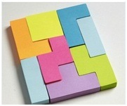 Customized Neon Color Letter Sticky Notes