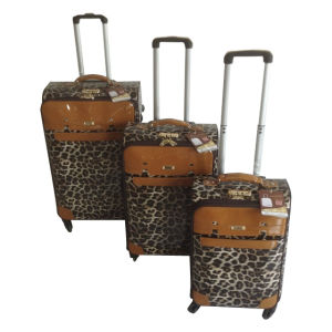 PU 4 Wheels Leather Bags Trolley Case Jb-D007 pictures & photos