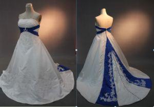 Rw09 Royal Blue And White Wedding Dresses