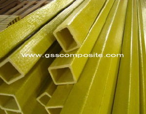 Yellow High Strength Pultruded Fiberglass Square Tube, FRP Tube