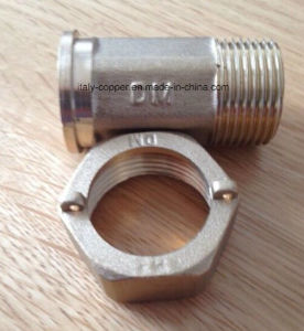 European Quality Brass Forged Water Meter Nipple (AV9090) pictures & photos