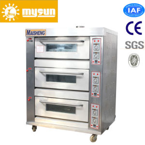 3 Layers with 6-Tray Bakery Equipment Pizza Oven