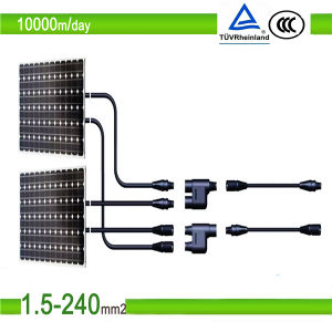 DC PV Cable Hudrolysis Resistant Flat Solar Cable 1*4mm2 1*6mm2 pictures & photos
