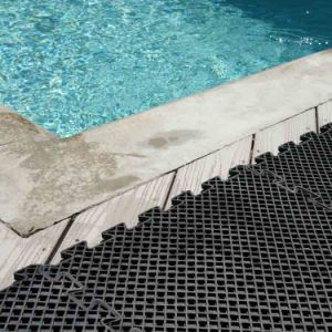 Anti Non Slip Holes Drainage Swim Swimming Pool Rubber Floor Mats