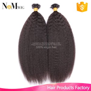 12-30 Inches 100g/Lot Brazilian Remy Hair Keratin U Nail Tip Kinky Straight Human Hair Extensions pictures & photos
