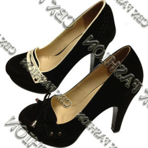 Fashion Vintage Bow Tie High Heels Women Shoes A136504090