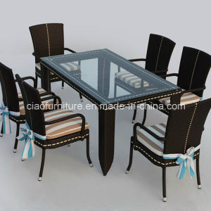Pleasant Malaysia Outdoor Plastic Rattan Dining Table Set Short Links Chair Design For Home Short Linksinfo