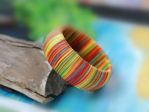 Fashion Multicolor Silk Bangle Jewelry (SZ0402)