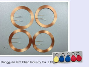 Inductor Coil for IC Card/Adhesive Copper Wire Coil pictures & photos