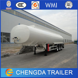Tri Axle 60 Cbm Oil Gasoline Fuel Tanker Trailer with Sigle Tyre pictures & photos