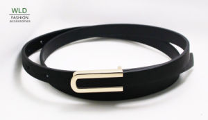 Fashion Lady′s Belt with Simple Buckle Ky6309 pictures & photos