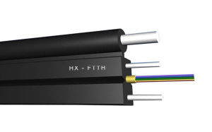 FTTH 1-4core G657A LSZH Fiber Optical Drop Cable/ Fiber Drop Wire pictures & photos