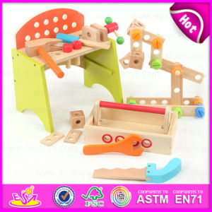 2015 Novelty Design and Multi-Function Wooden Tool Toy, Wooden Toy Mechanic Tool Box Set, DIY Toy Kids Wooden Tool Box Set W03D045 pictures & photos
