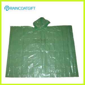 Clear Disposable Cheap PE Rain Poncho pictures & photos